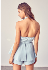 Rompers 48 You Are A Doll Light Blue Tie Front Romper