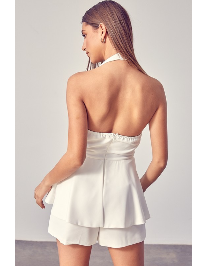 Rompers 48 You Are a Doll White Tie Front Romper