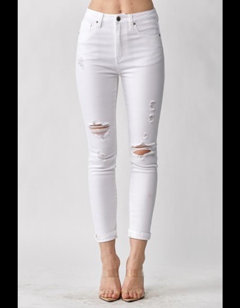 Pants 46 Moderate Distressed White Skinny Denim