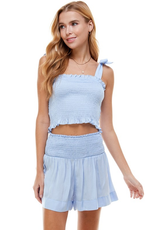 Tops 66 Feeling Royal and Light Blue Smock Top(2 Colors)