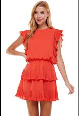 Dresses 22 Coral Crush Ruffle Dress