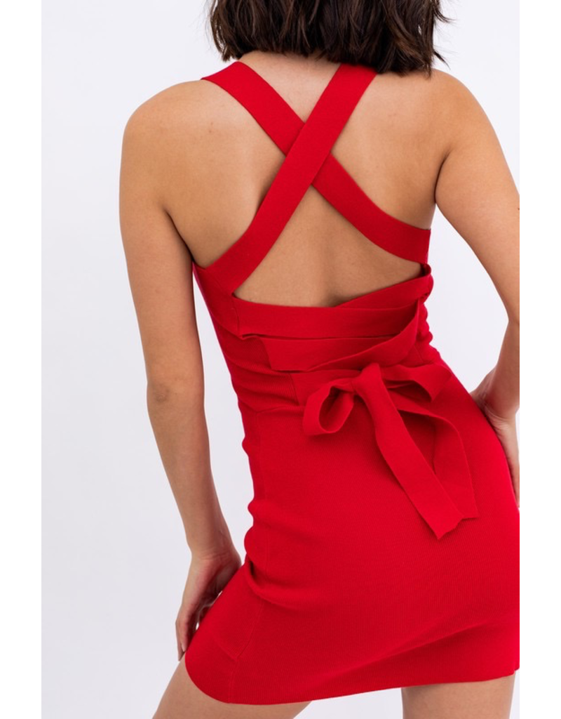 Tops 66 Heat It Up Red Summer Strappy Back Dress