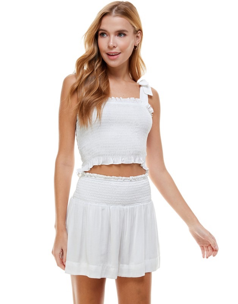 Skirts 62 Summer In The Sun Smocked Skort (in 2 Colors)
