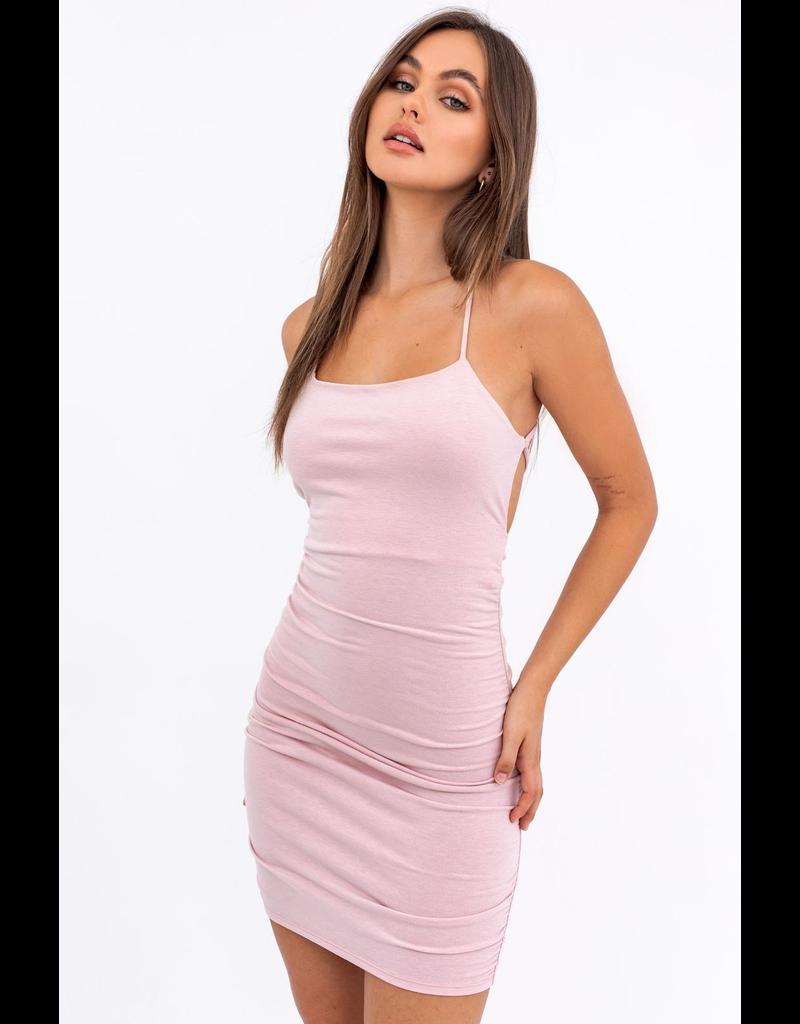 Dresses 22 Make Me Blush Low Back Ruched Dress