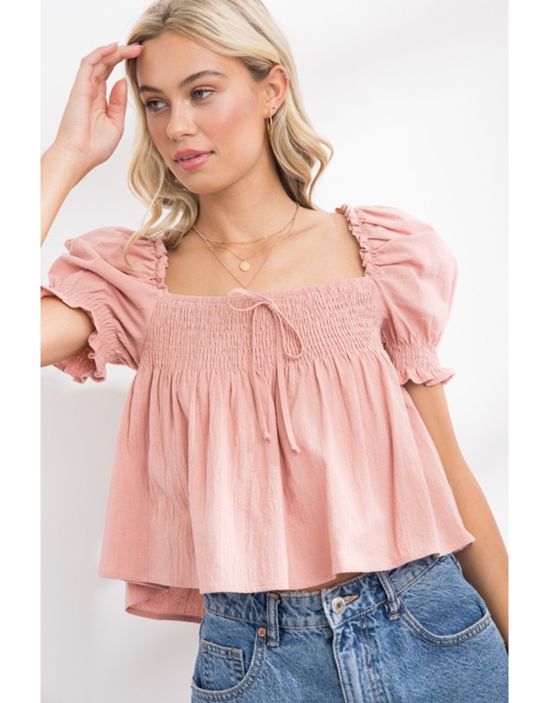 Tops 66 Such A Baby Doll Pink Top