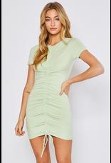 Dresses 22 Sunny Side Summer Sage Ruched Dress