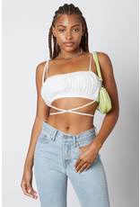 Tops 66 Wrap Up In Summer White Top