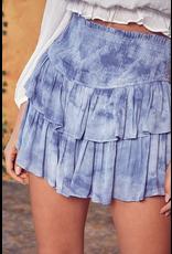 Skirts 62 Summer Fun Blue Smocked Skort