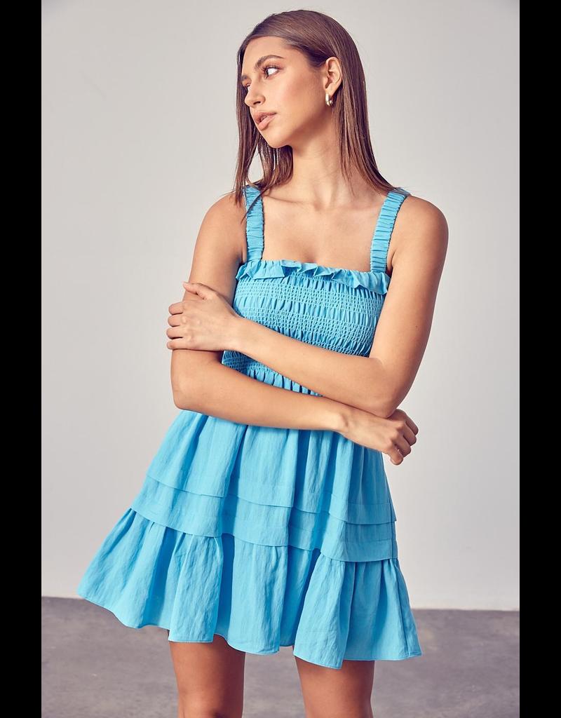 Dresses 22 Let's Celebrate Open Back Light Blue Dress