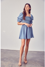 Dresses 22 Pretty Puff Sleeve and Smock Blue Dress
