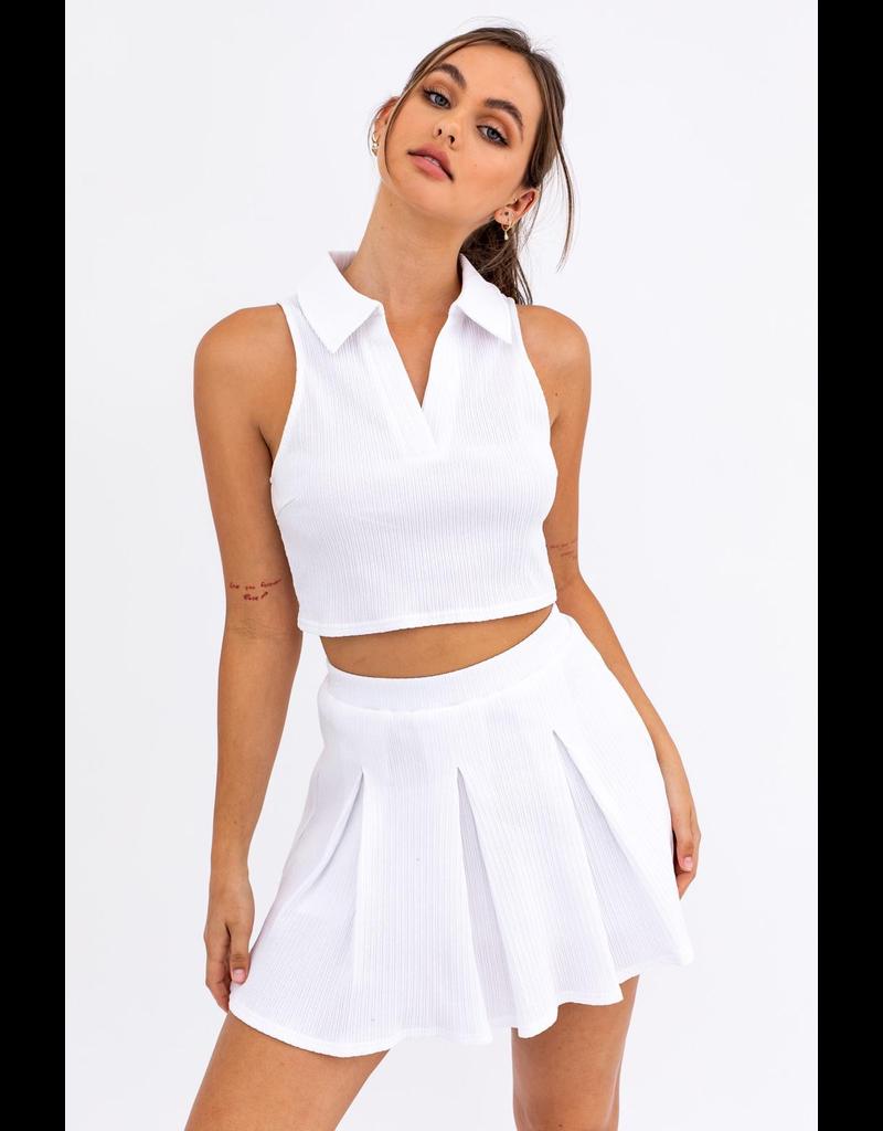 Skirts 62 Pleats Please White Tennis Skirt