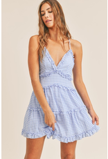 Dresses 22 Going Great Blue Gingham Ruffle Dress