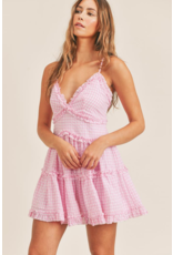 Dresses 22 Going Great Pink Gingham Ruffle Dress