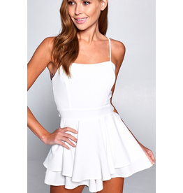Rompers 48 Party Perfect Little White Open Back Romper