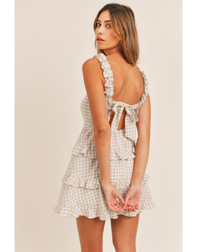 Dresses 22 Going Great Gingham Smocked Tie Back Dress (3 Colors)