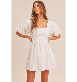 Dresses 22 Party Please White Tie Back Baby Doll Dress