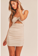 Dresses 22 Put A Twist On It Beige Dress