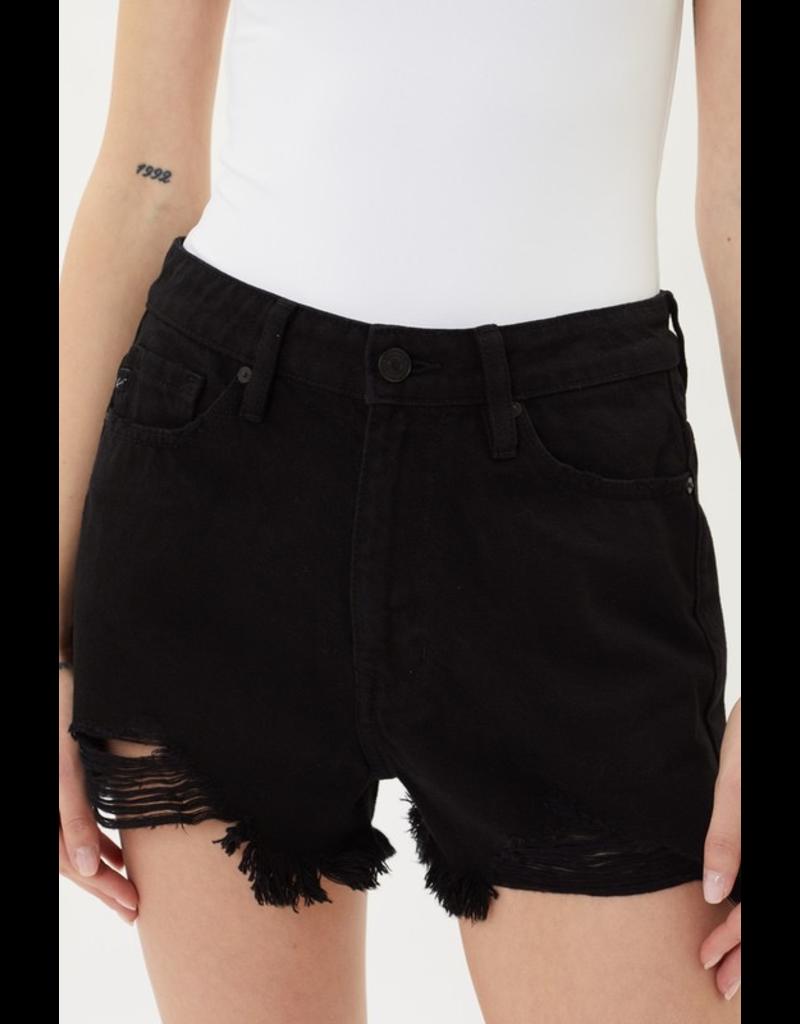 Shorts 58 KanCan High Rise Black Distressed Denim Shorts