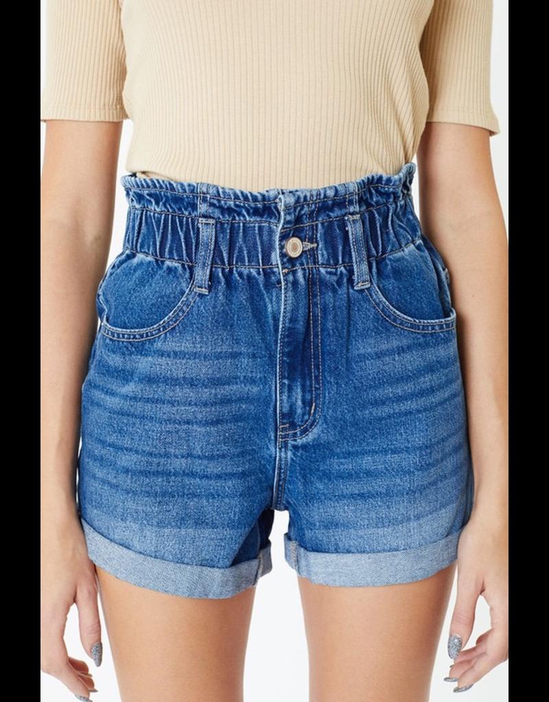 Shorts 58 KanCan Paper Bag Medium Wash Denim Shorts