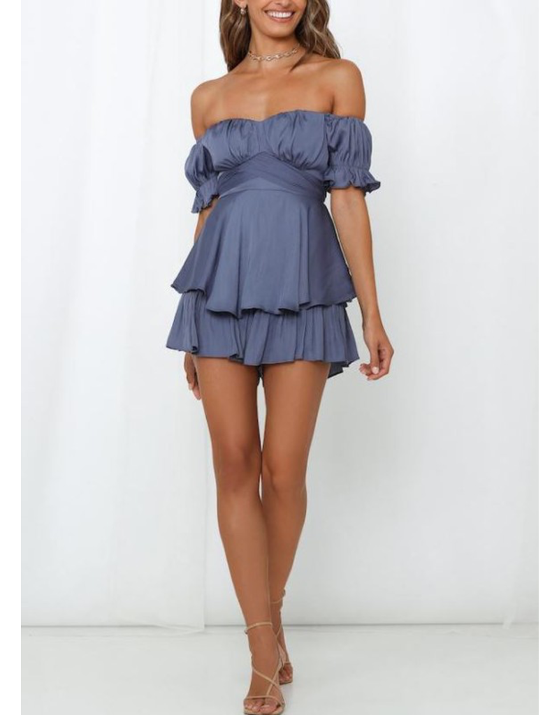 Rompers 48 Summer Soiree Ruffle Romper (6 Colors)