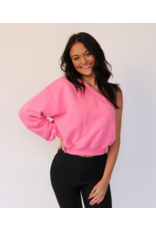 Tops 66 Candy Pink One Shoulder Top