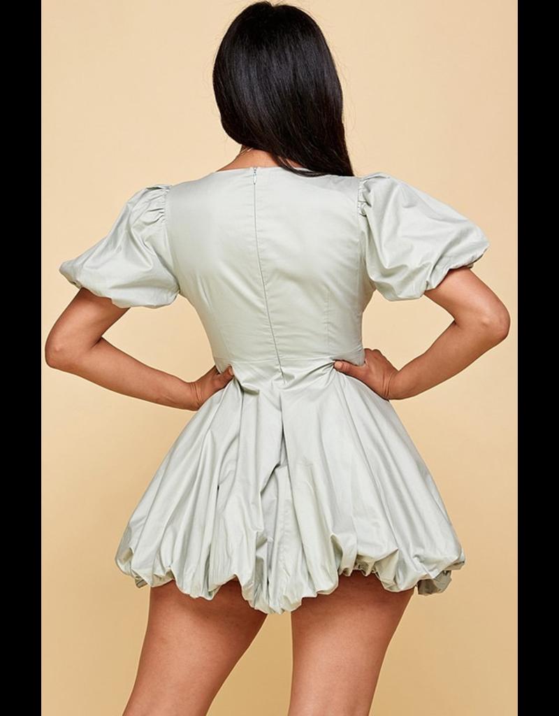Dresses 22 Season in Sage Bubble Dress