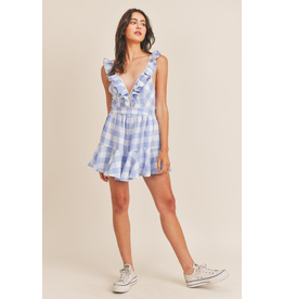 Dresses 22 Gingham Party Ruffle Romper
