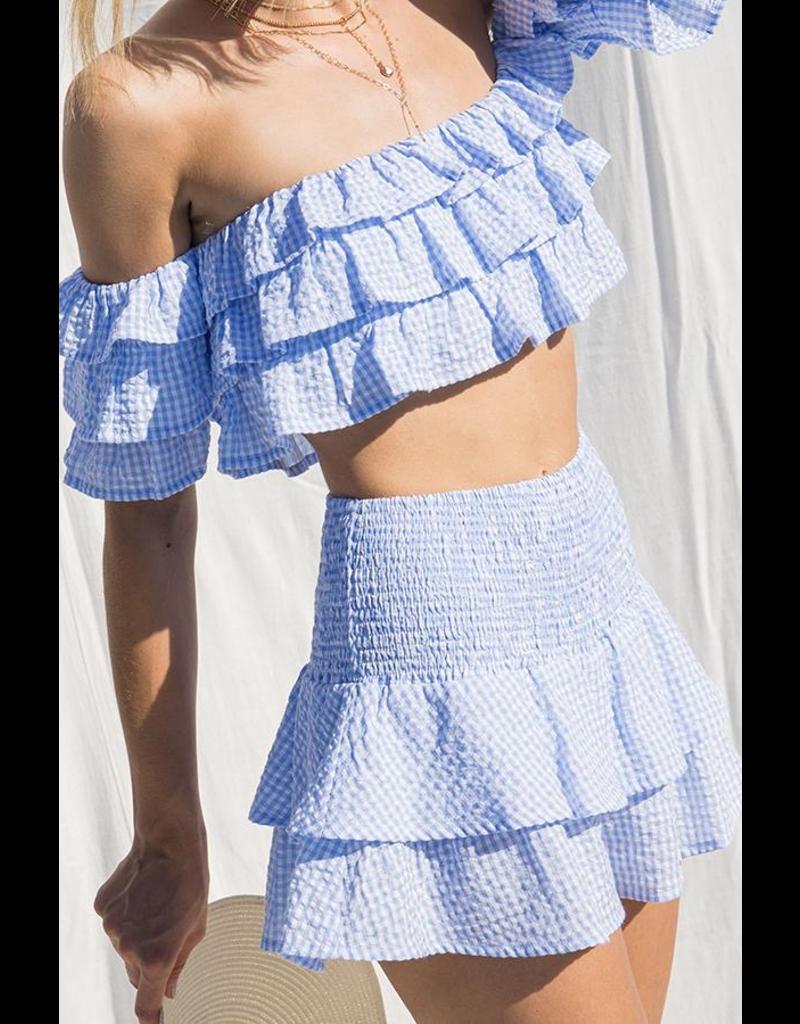 Skirts 62 Go Girl Gingham Ruffle Skort
