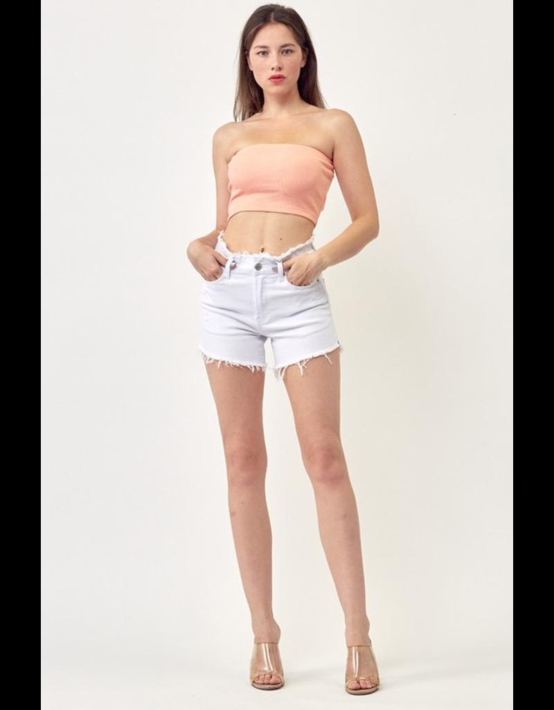 Shorts 58 Frayed Waist White Denim Shorts