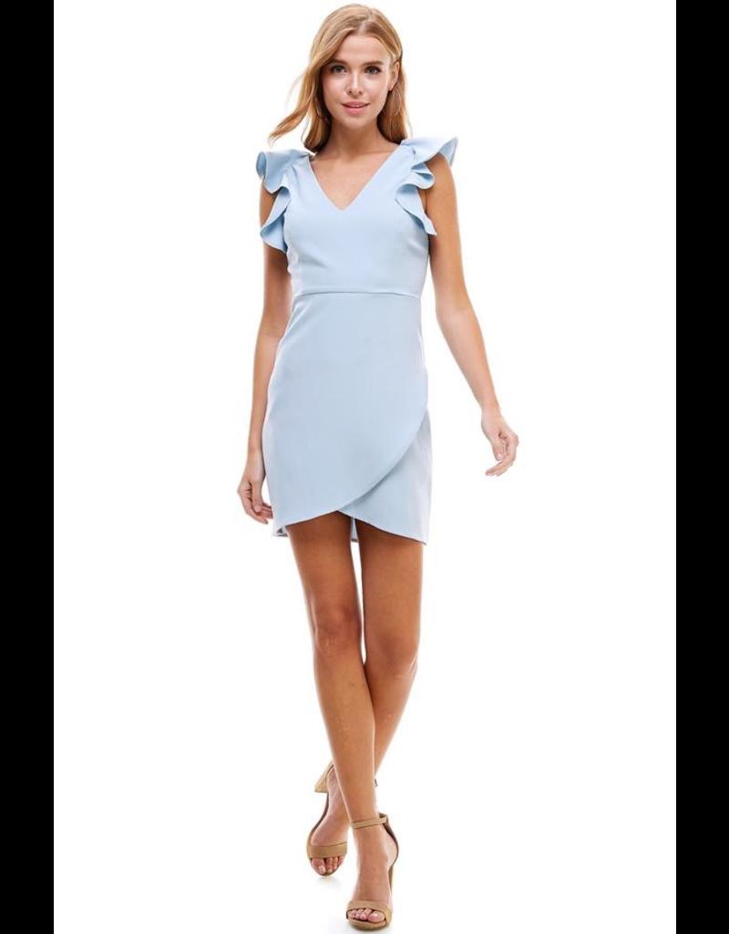 Dresses 22 Such A Doll Light Blue Ruffle Dress