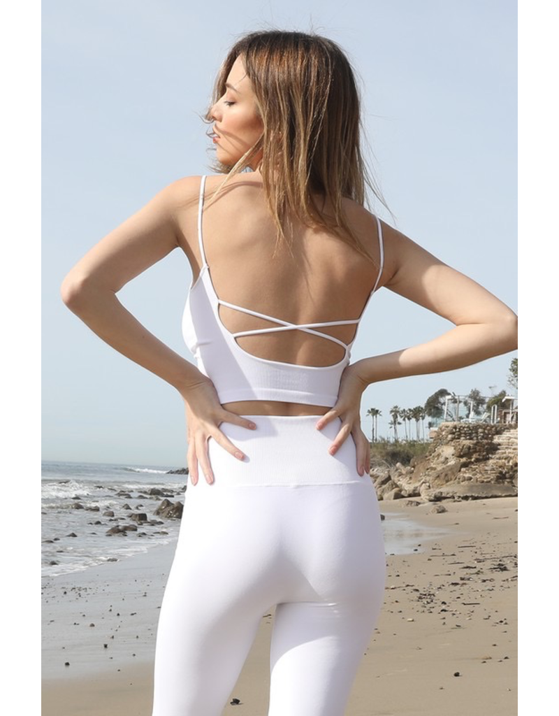 Tops 66 Strappy Back Bra Top (2 Colors)