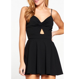 Rompers 48 Knotty Front Little Black Romper