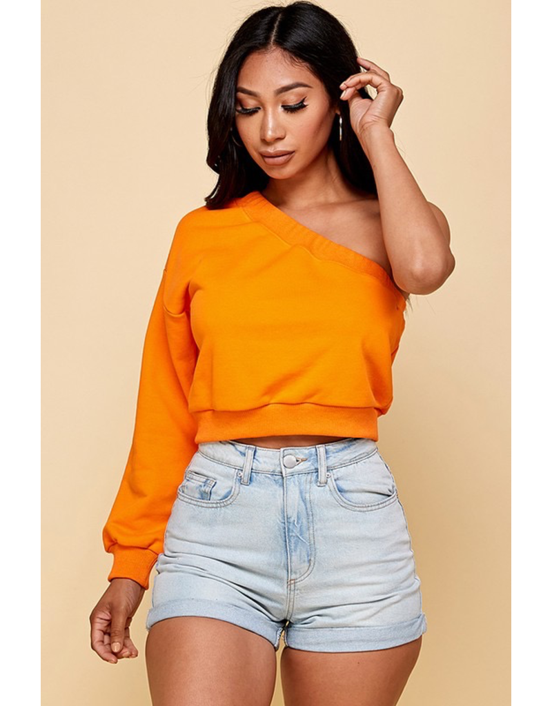 Tops 66 Right On One Shoulder Top (7 Colors)