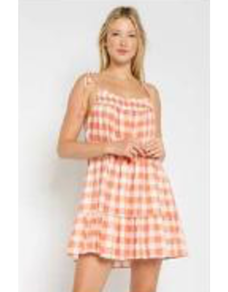 Dresses 22 Go Girl Orange Gingham Dress