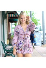 Rompers 48 On My List Mauve Floral Romper