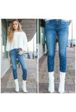Pants 46 Pearl Accents Medium Denim