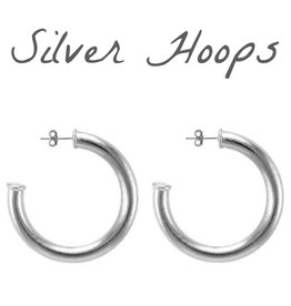 Jewelry 34 Silver Hoop Earrings