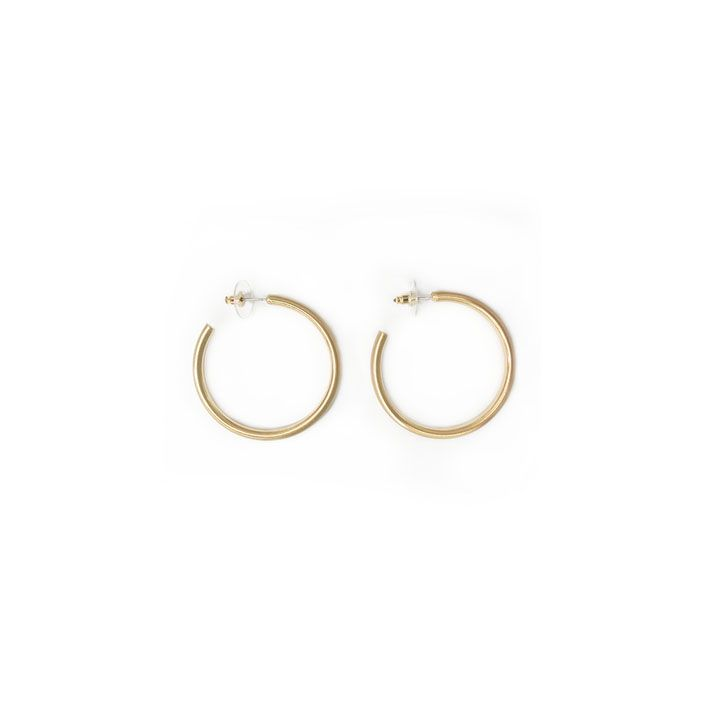 Jewelry 34 Small Satin Gold Hoops