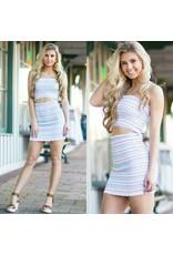 Skirts 62 Colorful Stripes Smocking Skirt