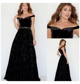 Formalwear Midnight Awakening Velvet Formal Dress