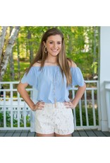 Shorts 58 Camilla White Lace Shorts