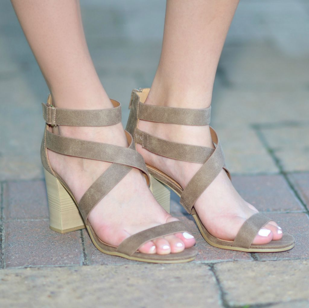 Shoes 54 Cross Roads Taupe Heels