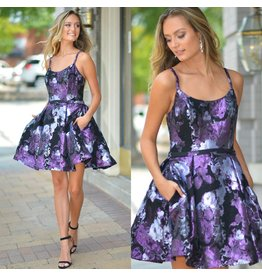 Dresses 22 Floral Short Formal Dress