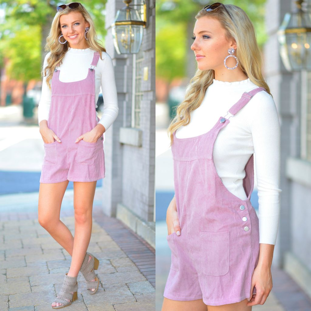 Rompers 48 Fall Forward Pink Corduroy Overalls