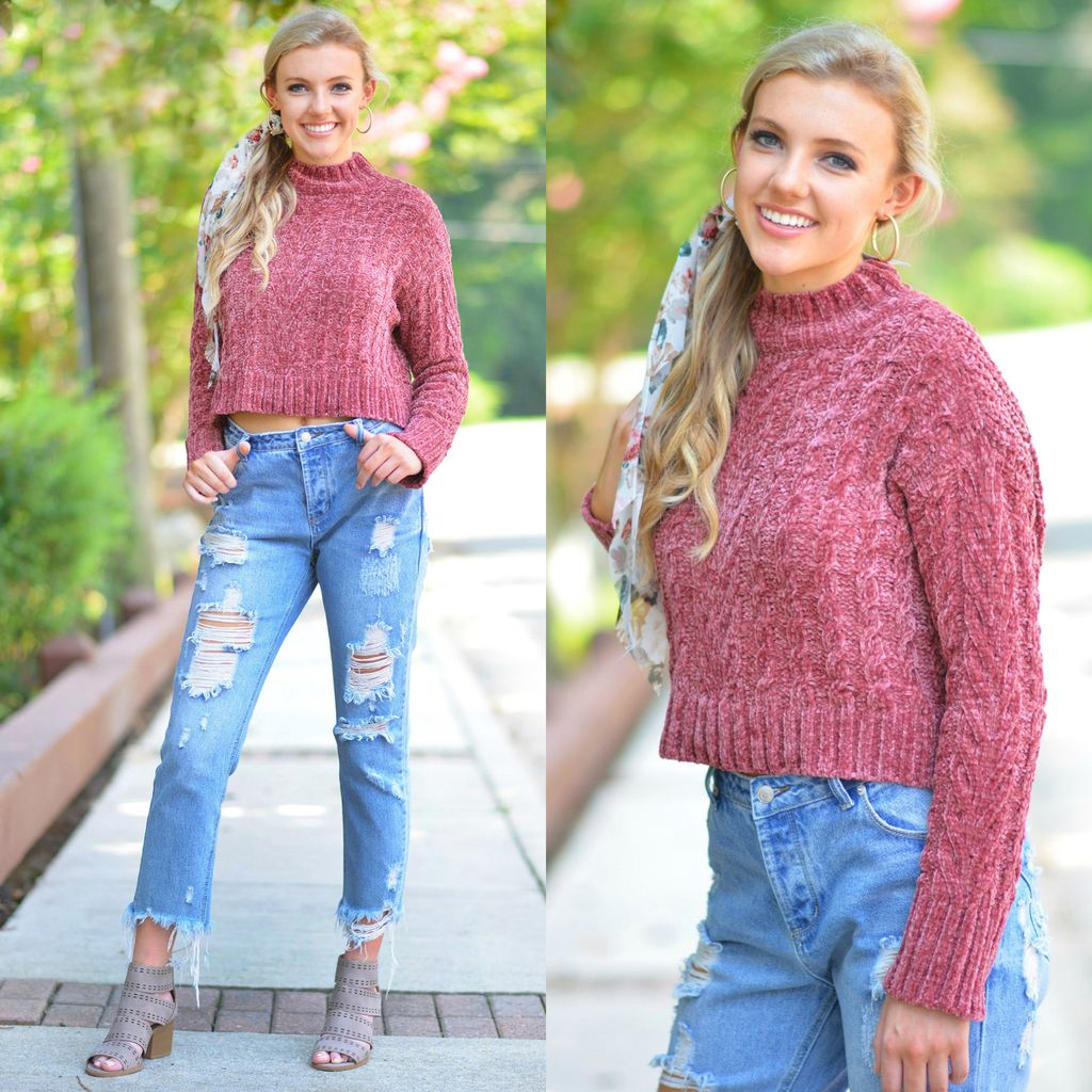 Tops 66 Fall Fav Chenille Sweater