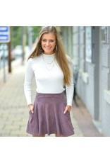 Skirts 62 Fit & Flare Fall Suede Plum Skirt