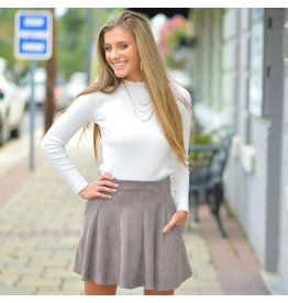 Skirts 62 Fit & Flare Fall Suede Skirt