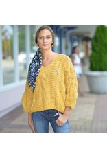 Tops 66 Fall Mustard Handmade Sweater