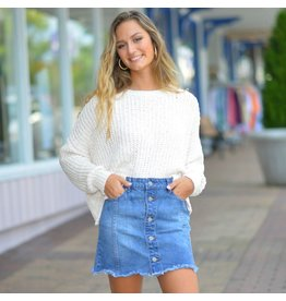 Skirts 62 Finding Fall Button Front And Frayed Bottom Skirt