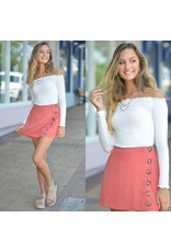 Shorts 58 Pumpkin Spice Latte Button Front Skort
